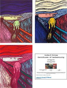 """アンディ・ウォーホル「""""The Scream""""Portfolio」"""