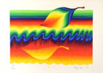 靉嘔「一葉:A leaf」版画 1979年