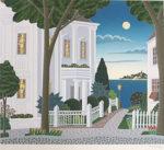 トーマス・マックナイト「オレンジ通り」版画40.5×45.5cm