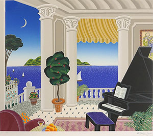 トーマス・マックナイト「パラダイススイートへの旅」版画 1991年