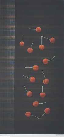 浜口陽三「14のさくらんぼ」銅版画 1966年