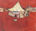 早川義孝「サーカス小屋」油彩 1970年
