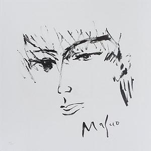池田満寿夫「尾崎豊」版画 2017年