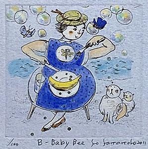 山本容子「B-Baby Bee」手彩色銅版画 2011年