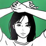 KYNE(キネ)「Untitled」キャンバスに版画 2020年