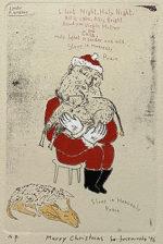 山本容子「Merry Christmas」手彩色銅版画 1996年