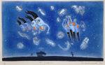 山本容子「ザ・シンギング」手彩色銅版画 1992年