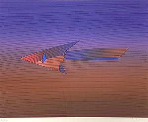 ジャン・ミシェル・フォロン「The Way」版画 1985年