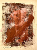 因藤壽「作品」ガッシュ・クレヨン 1962年