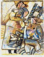 テオ・トビアス「Entre myrte et fleur de cannelle」版画65×48cm