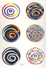 ヤコブ・アガム「Circle of Peace 1980」版画 1980年