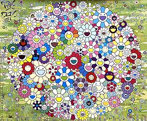 村上隆「森のコロポックル」オフセットポスター 2020年