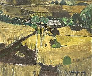 山下大五郎「麥の丘(麦の丘)」油彩10号 1962年