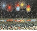 山下清「長岡の花火」版画42×58cm