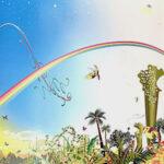 青島千穂「Sky」オフセット版画 2006年