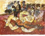 テオ・トビアス「Voyage Pour un Homme qui and besie de rever」版画50.5×67cm