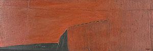 水島哲雄(ミズテツオ)「風景」油彩 1982年