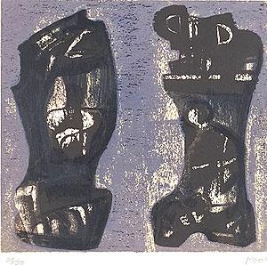 ヘンリー・ムーア「Ideas for Metal Sculpture V」版画 1984年