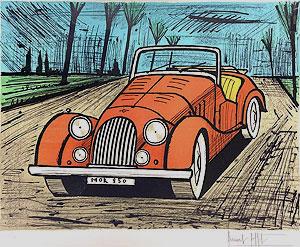 ベルナール・ビュッフェ「モーガン」版画 1985年