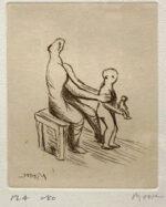 ヘンリー・ムーア「母と子よりPL.4」銅版画 1983年