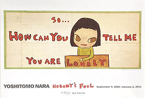 奈良美智「NOBODY'S FOOL(A)」ポスター 2010年