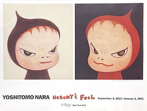 奈良美智「NOBODY'S FOOL(B)」ポスター 2010年