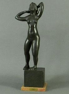 高田博厚「踊り子」ブロンズ彫刻 1957年