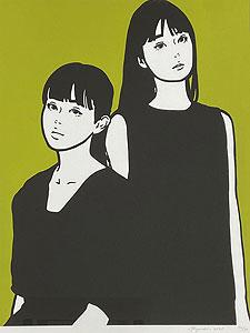 KYNE(キネ)「Untitled:D」版画 2020年