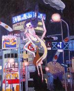 タカノ綾「のしとめぐ2036年の地球の上で」オフセットポスター 2002年
