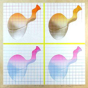 安田侃「四つの生誕」版画
