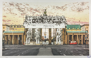 JR(ジェイアール)「Giants, Brandenburg Gate」版画 2020年