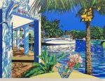 鈴木英人「ブルーマリンクラブ」版画 1993年