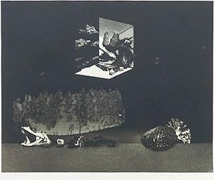中林忠良「囚われる風景 II」銅版画 1973年