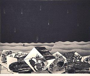 中林忠良「囚われる風景 III」銅版画 1973年