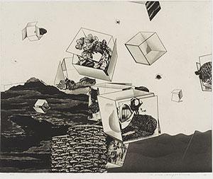 中林忠良「囚われる風景 V」銅版画 1973