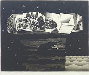 中林忠良「囚われる風景 VI」銅版画 1973年