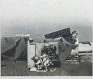 中林忠良「囚われる風景 VII」銅版画 1973年