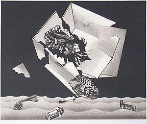 中林忠良「囚われる風景 VIII」銅版画 1973年