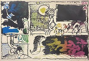 ピエール・アレシンスキー「Discovery of Acid (Act II)」版画 1968年