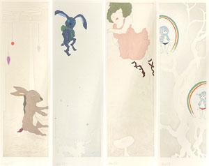 ミヤケマイ「春夏秋冬:4点セット」銅版画 2010年
