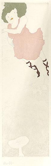 ミヤケマイ「秋キノコ狩り HIDE+SEEK-春夏秋冬より-」銅版画 2010年