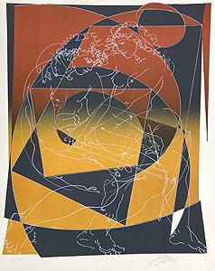 ハンス・エルニ「Le Couple」版画 1973年