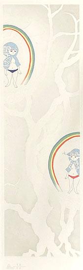 ミヤケマイ「冬の虹 OVER THE RAINBOW-春夏秋冬より-」銅版画 2010年