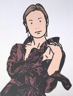 ジュリアン・オピー「Anya with hands togerther. 2005」オフセット