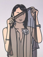 ジュリアン・オピー「Hijiri with veil. 2005」オフセット