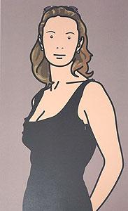 ジュリアン・オピー「Monique with evening dress. 2004」オフセット