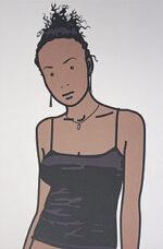 ジュリアン・オピー「Bijou with earrings. 2005」オフセット