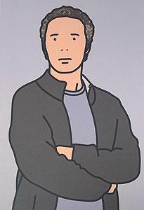 ジュリアン・オピー「Julian with cardigan. 2005」オフセット