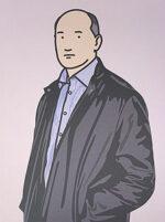 ジュリアン・オピー「Ashley with leather jacket. 2005」オフセット
