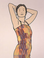 ジュリアン・オピー「Anya with cocktail dress. 2005」オフセット